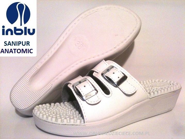 f2ec9f89ef50c 31-PF1 fakirki białe Sanipur kapcie-klapki profilaktyczne z kolcami damskie  Sanipur Inblu ...