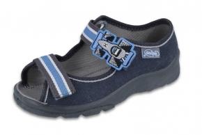 b6ea14b6d8863 20-969X127 MAX JUNIOR SZARY AUTO sandały, sandałki kapcie, obuwie dziecięce  profilaktyczne Befado