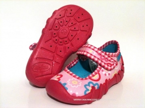 fe538e9af14dfa 0-109P018 SPEEDY różowe kapcie-buciki-czółenka-obuwie dziecięce  poniemowlęce Befado 20