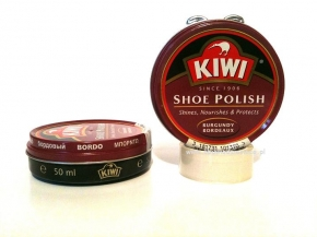 11-01126bo bordowa pasta do obuwia 50ml Kiwi