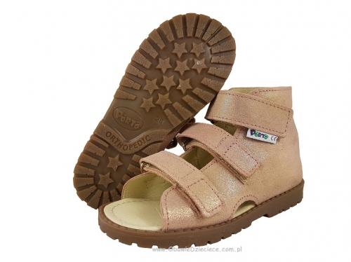 9cc626b5 8-1210 40 RÓŻ PYŁEK MRUGAŁA PORTO buty sandałki kapcie profilaktyczne  przedszk. 26-