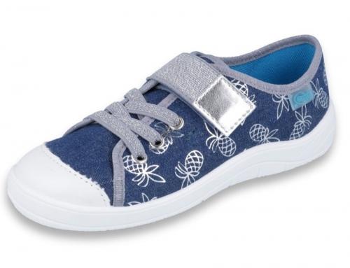 21 251Y125 TIM NIEBIESKIE CIEMNE półtrampki na rzep kapcie buciki obuwie dziecięce na rzep BEFADO 31 36