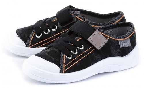 1 251X046 Tim CZARNE :: półtrampki chłopięce na rzep kapcie buciki obuwie dziecięce buty Befado 25 30