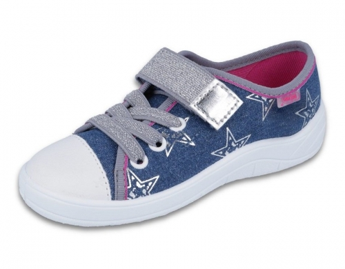 1 251X113 TIM JEANS gwiazdki :: półtrampki na rzep kapcie dziewczęce buciki obuwie dziecięce buty Befado 25 30