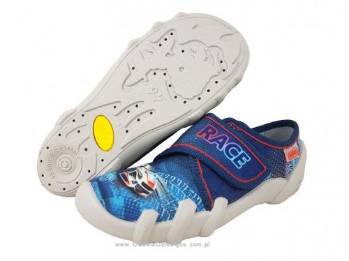 b13e149be 1-273X222 SKATE GRANATOWO NIEBIESKIE WYŚCIGÓWKA kapcie buciki obuwie  dziecięce przedszkolne szkolne Befado Skate