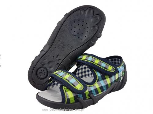 f0ea527a 20-33-378 l GRANAT KRATKA SELEDYN sandałki, sandały profilaktyczne, kapcie  obuwie