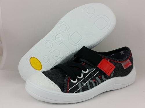 1 251X063 Tim szaro czarne półtrampki na rzep kapcie buciki obuwie dziecięce buty Befado 25 30