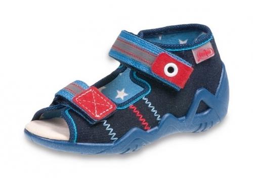 bd2af0db 01-250P060 SNAKE GRANAT NIEB. sandalki kapcie : WKŁADKI SKÓRZANE : buciki  obuwie dziecięce