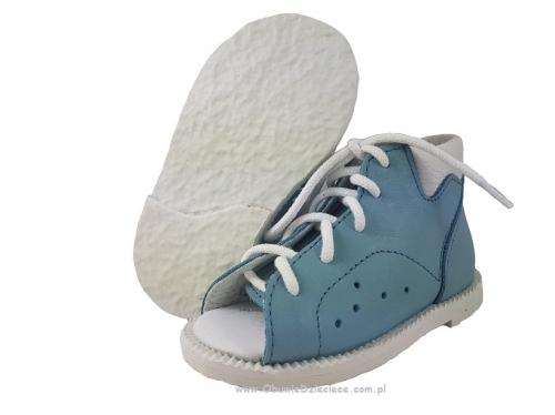 b3d01fe5 8-BP38MA/0 KUBA JEANS kapcie sandałki obuwie profilaktyczne wcz.dzieciece  18-