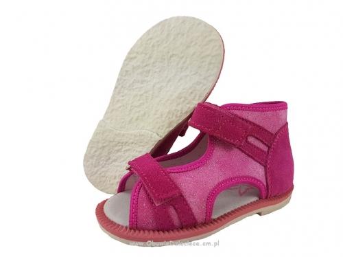 ec0a92d7 8-13-BS191 MAJA AMARANT BROKAT WKŁADKI PROFILOWANE ortopedyczne  profilaktyczne kapcie sandałki dziecięce przedszk